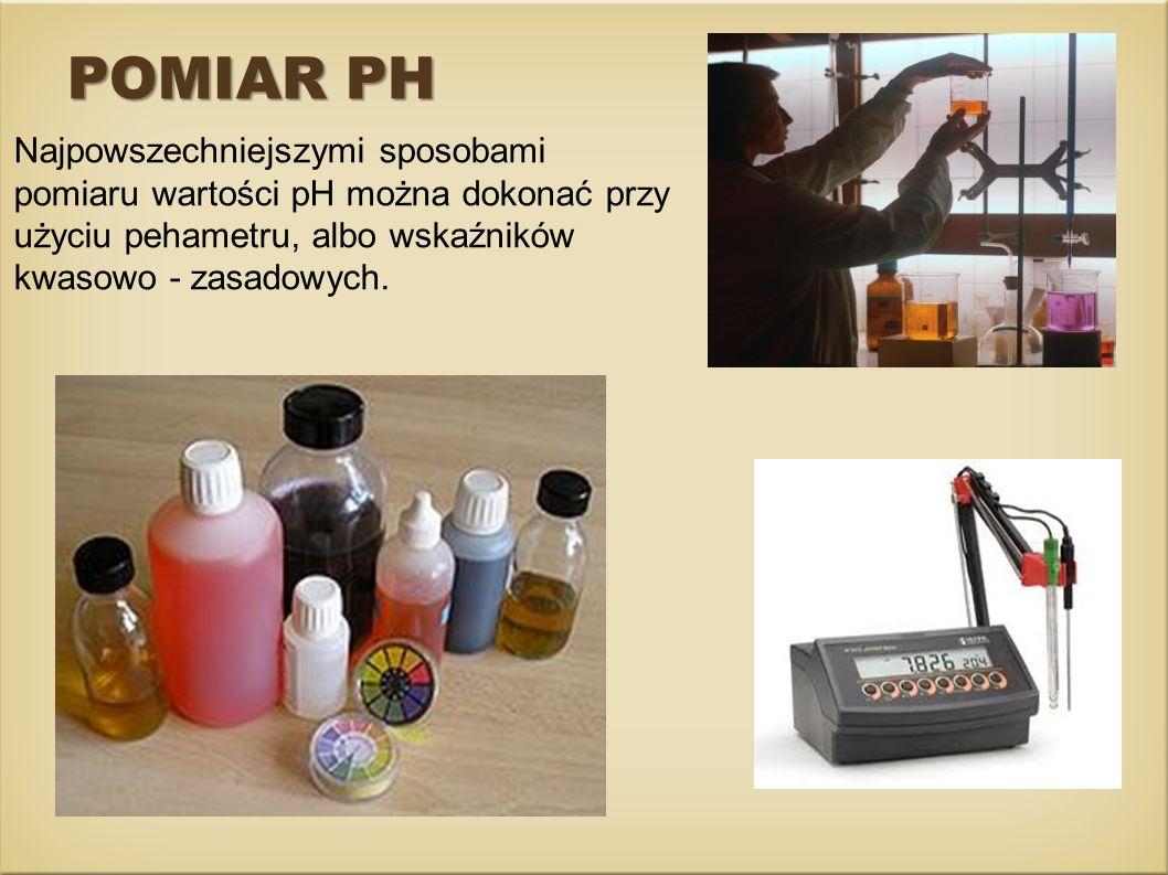 Pehametr Stosowane w laboratoriach wskaźniki uniwersalne, które obejmują szeroki zakres pH (około 10 jednostek), umożliwiają jedynie oszacowanie wartości pH (z dokładnością do 0,5 jednostki).