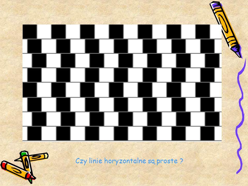 Czy linie horyzontalne są proste ?