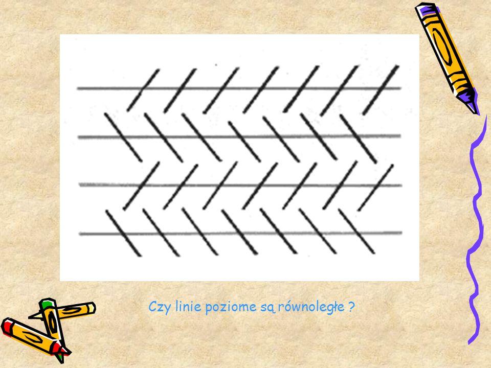 Czy linie poziome są równoległe ?