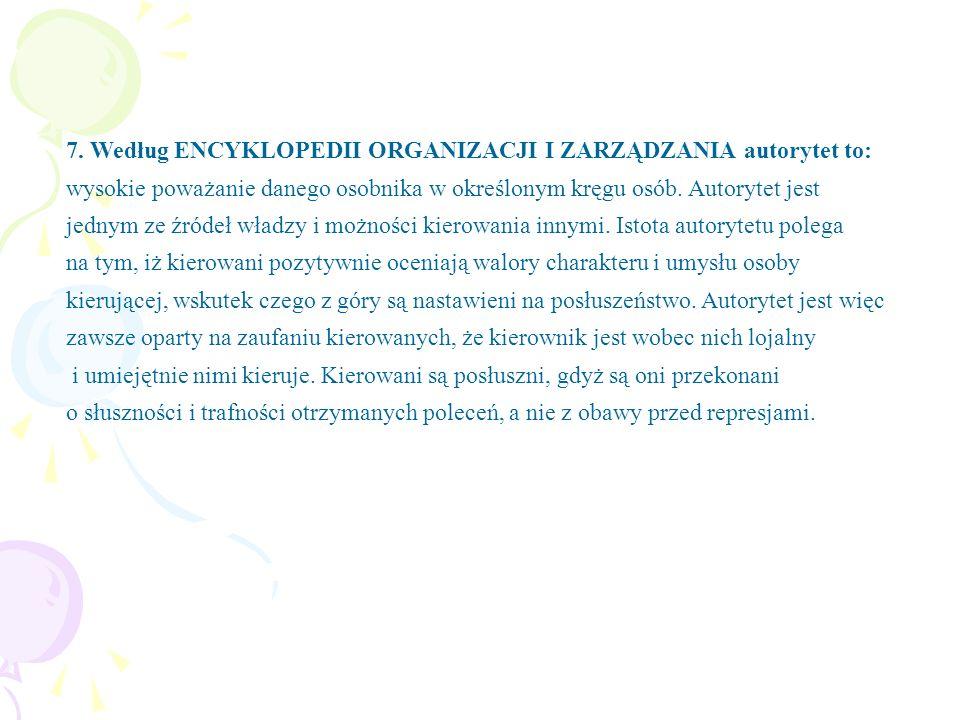 7. 52% badanych twierdzi, że w Koninie są osoby mogące być autorytetem dla młodzieży, a 48% - nie.