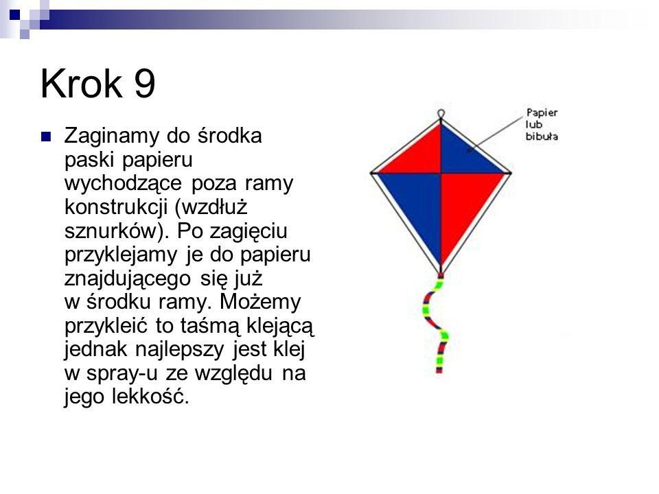 Krok 10 Utnij kawałek sznurka (o długości latawca).