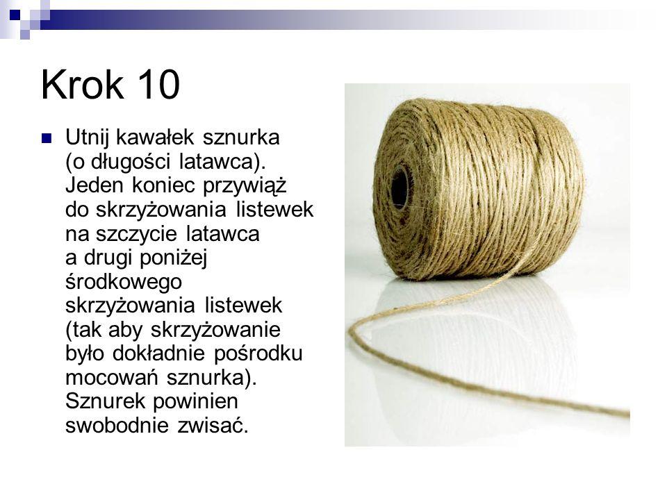 Krok 11 Utnij drugi kawałek sznurka – również o długości latawca.