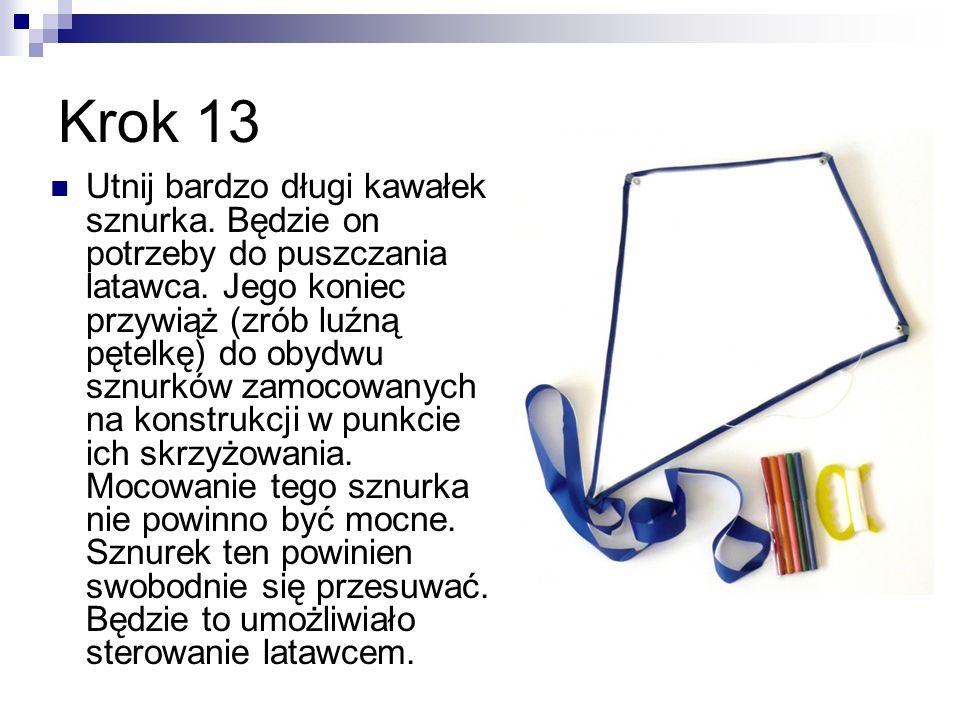 Krok 14 Jak już latawiec jest gotowy możemy go pomalować farbkami, flamastrami.