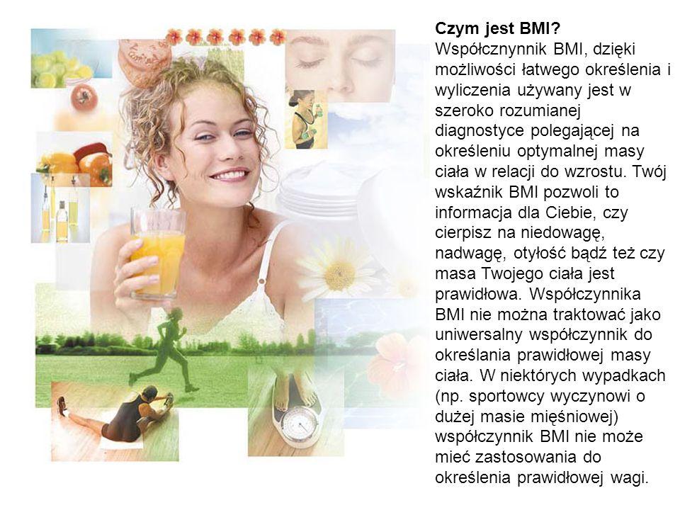 Czym jest BMI? Współcznynnik BMI, dzięki możliwości łatwego określenia i wyliczenia używany jest w szeroko rozumianej diagnostyce polegającej na okreś