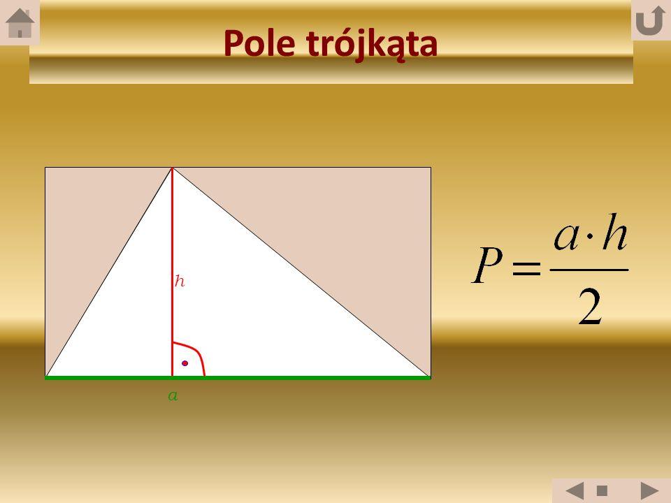 Pole trójkąta h a
