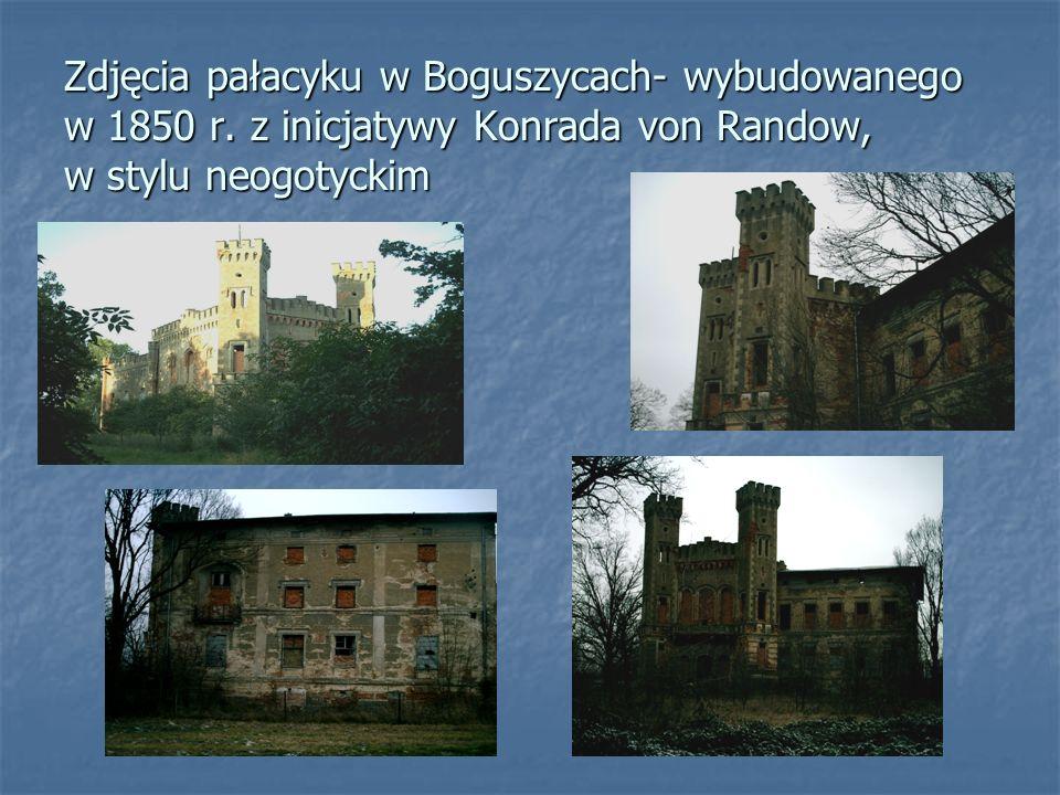 Zdjęcia pałacyku w Boguszycach- wybudowanego w 1850 r. z inicjatywy Konrada von Randow, w stylu neogotyckim