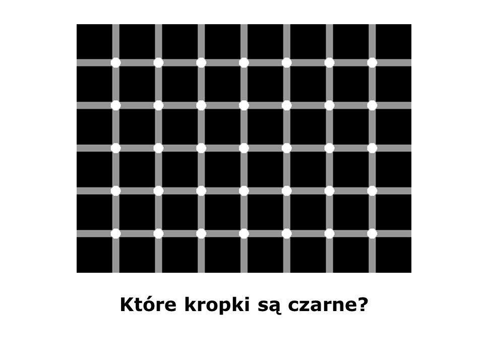 Które kropki są czarne?
