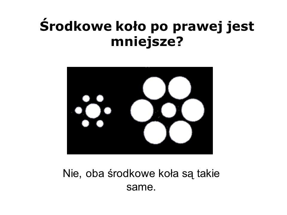 Nie, oba środkowe koła są takie same. Środkowe koło po prawej jest mniejsze?