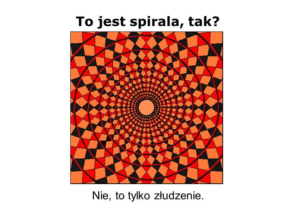 To jest spirala, tak? Nie, to tylko złudzenie.
