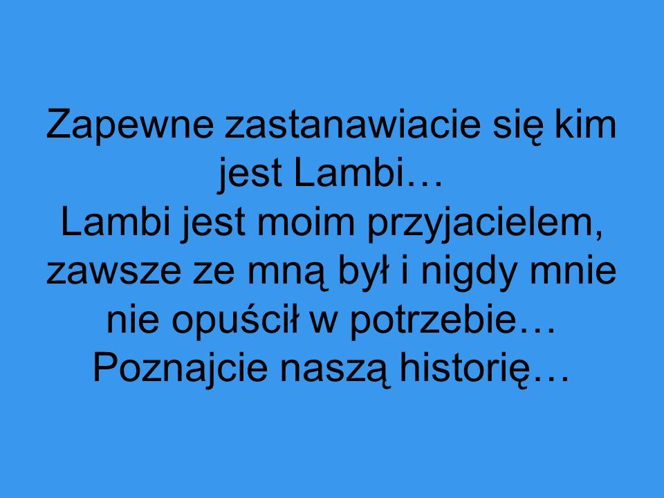 Zapewne zastanawiacie się kim jest Lambi… Lambi jest moim przyjacielem, zawsze ze mną był i nigdy mnie nie opuścił w potrzebie… Poznajcie naszą histor