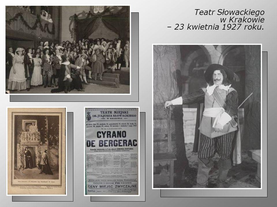 Teatr Słowackiego w Krakowie – 23 kwietnia 1927 roku.