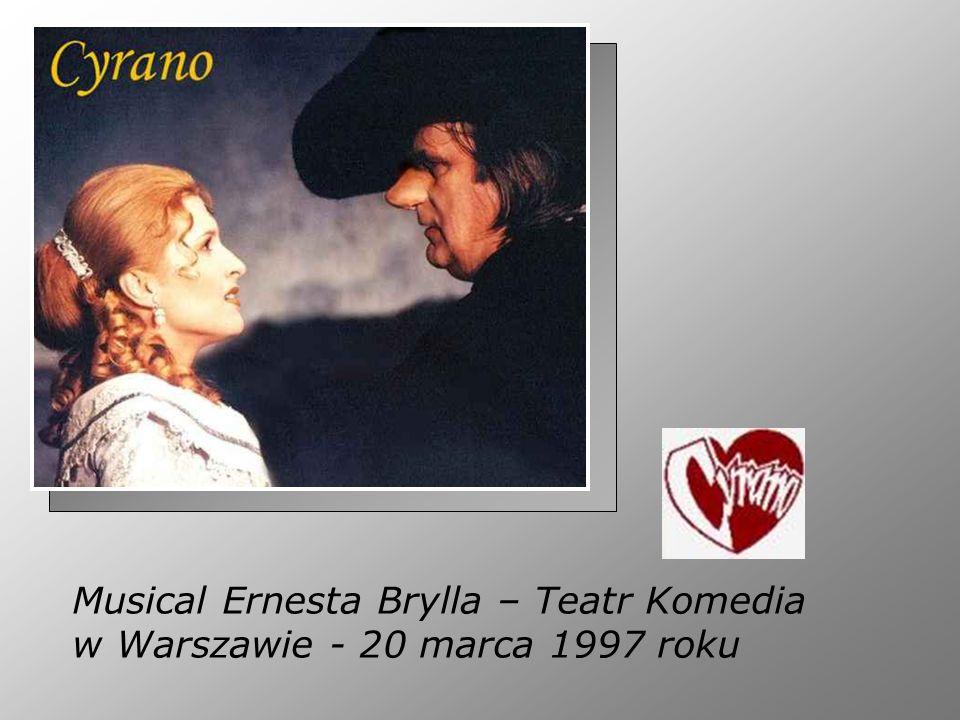 Musical Ernesta Brylla – Teatr Komedia w Warszawie - 20 marca 1997 roku