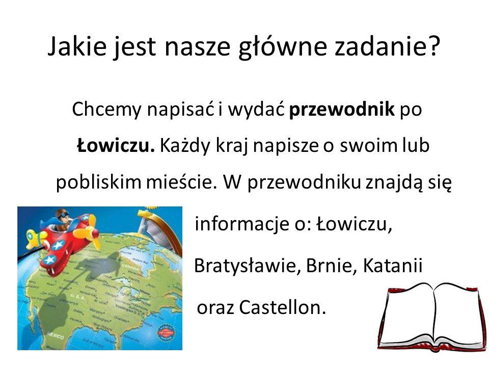 Jakie jest nasze główne zadanie. Chcemy napisać i wydać przewodnik po Łowiczu.