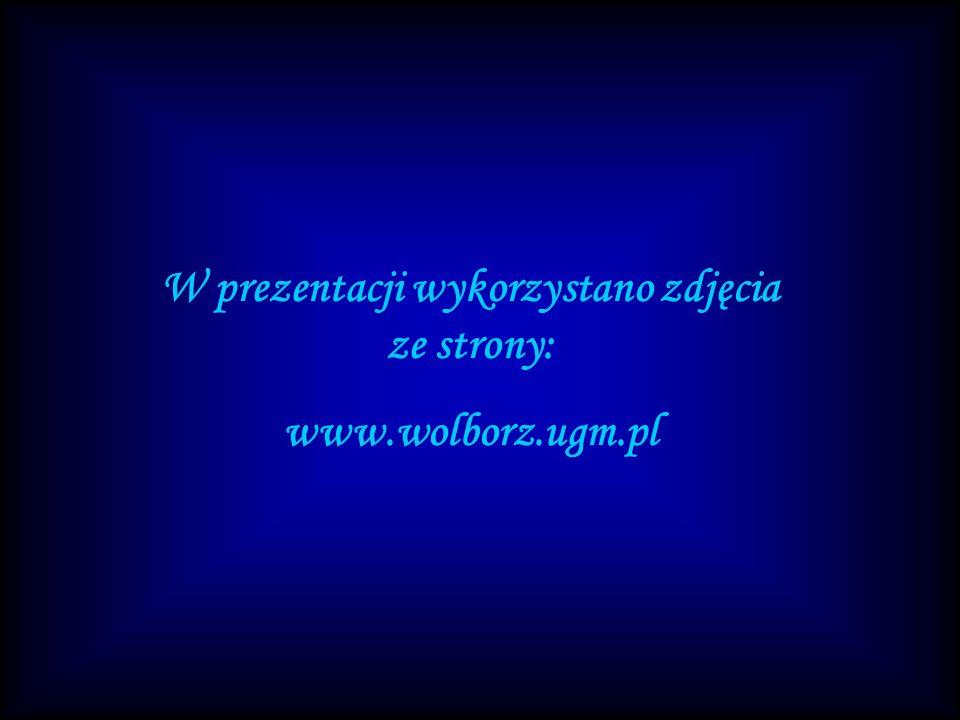 W prezentacji wykorzystano zdjęcia ze strony: www.wolborz.ugm.pl
