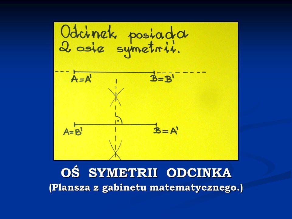 OŚ SYMETRII ODCINKA (Plansza z gabinetu matematycznego.)