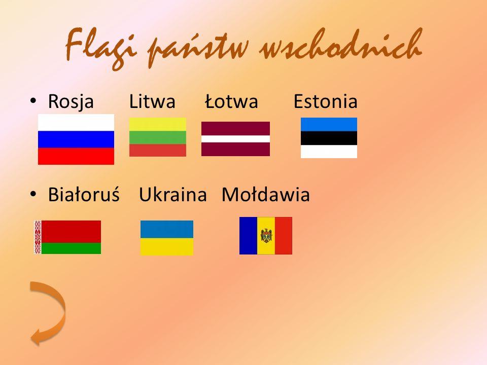 Flagi państw wschodnich Rosja Litwa Łotwa Estonia Białoruś Ukraina Mołdawia