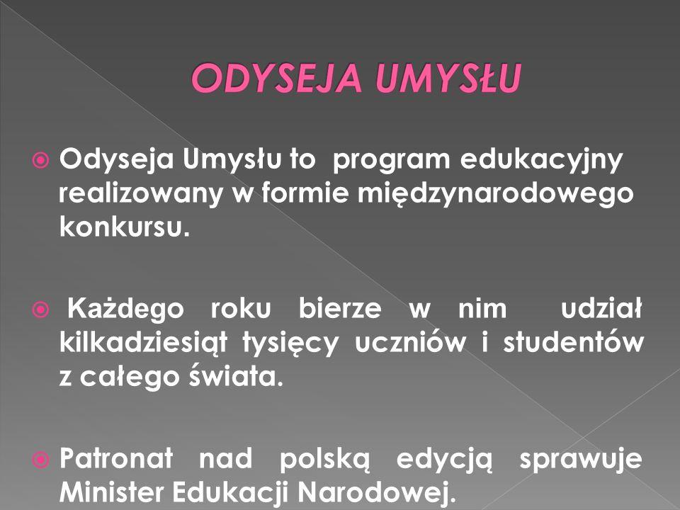 Odyseja Umysłu to program edukacyjny realizowan y w formie międzynarodowego konkursu.