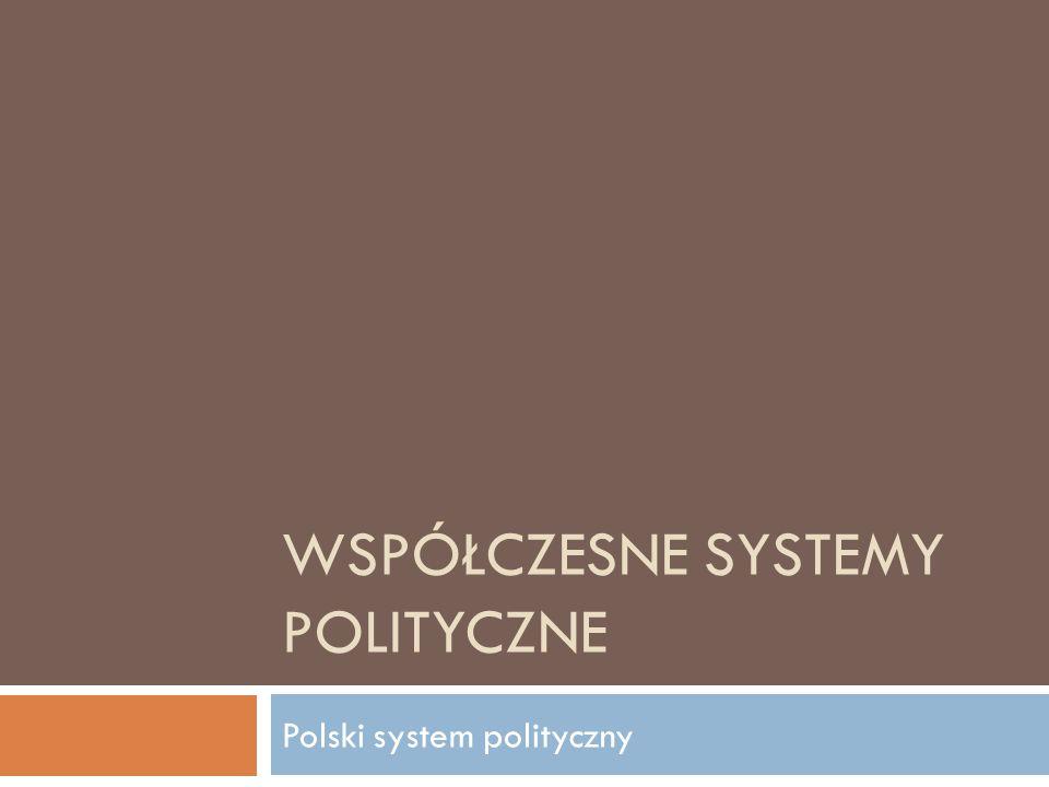 WSPÓŁCZESNE SYSTEMY POLITYCZNE Polski system polityczny