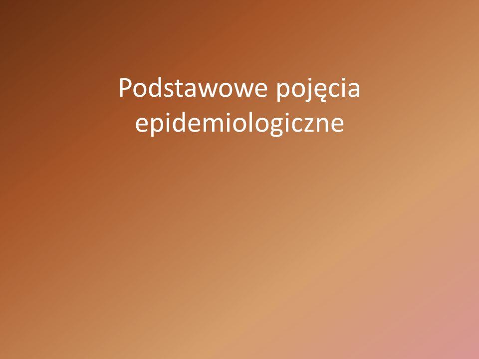 Podstawowe pojęcia epidemiologiczne