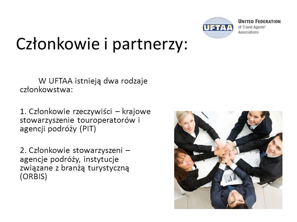 Członkowie i partnerzy: W UFTAA istnieją dwa rodzaje członkowstwa: 1. Członkowie rzeczywiści – krajowe stowarzyszenie touroperatorów i agencji podróży