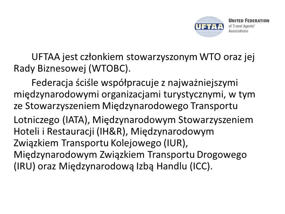 UFTAA jest członkiem stowarzyszonym WTO oraz jej Rady Biznesowej (WTOBC). Federacja ściśle współpracuje z najważniejszymi międzynarodowymi organizacja