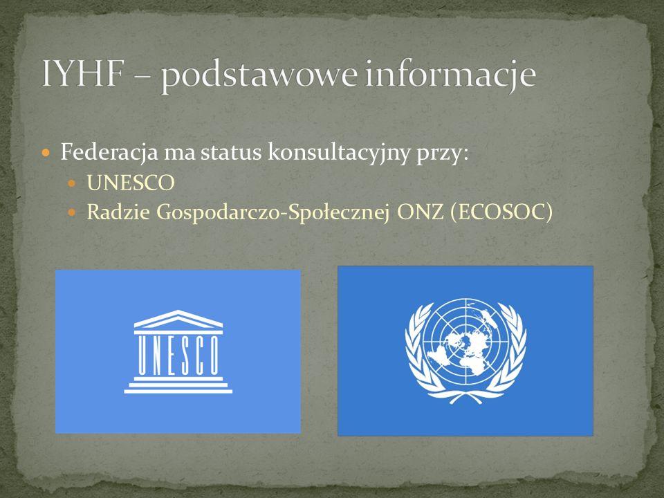Federacja ma status konsultacyjny przy: UNESCO Radzie Gospodarczo-Społecznej ONZ (ECOSOC)