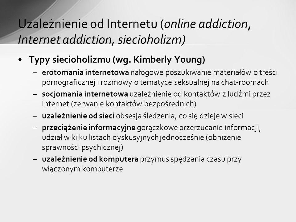 Typy siecioholizmu (wg.