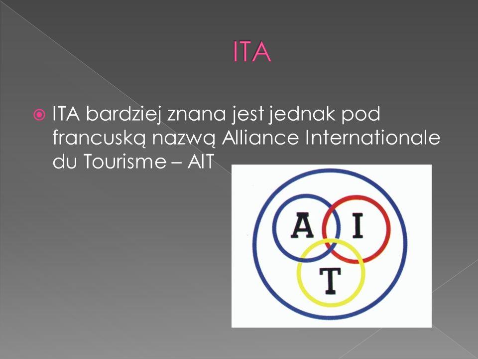 ITA bardziej znana jest jednak pod francuską nazwą Alliance Internationale du Tourisme – AIT