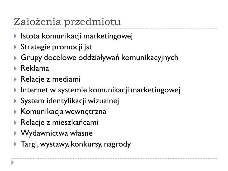 Założenia przedmiotu Literatura S.