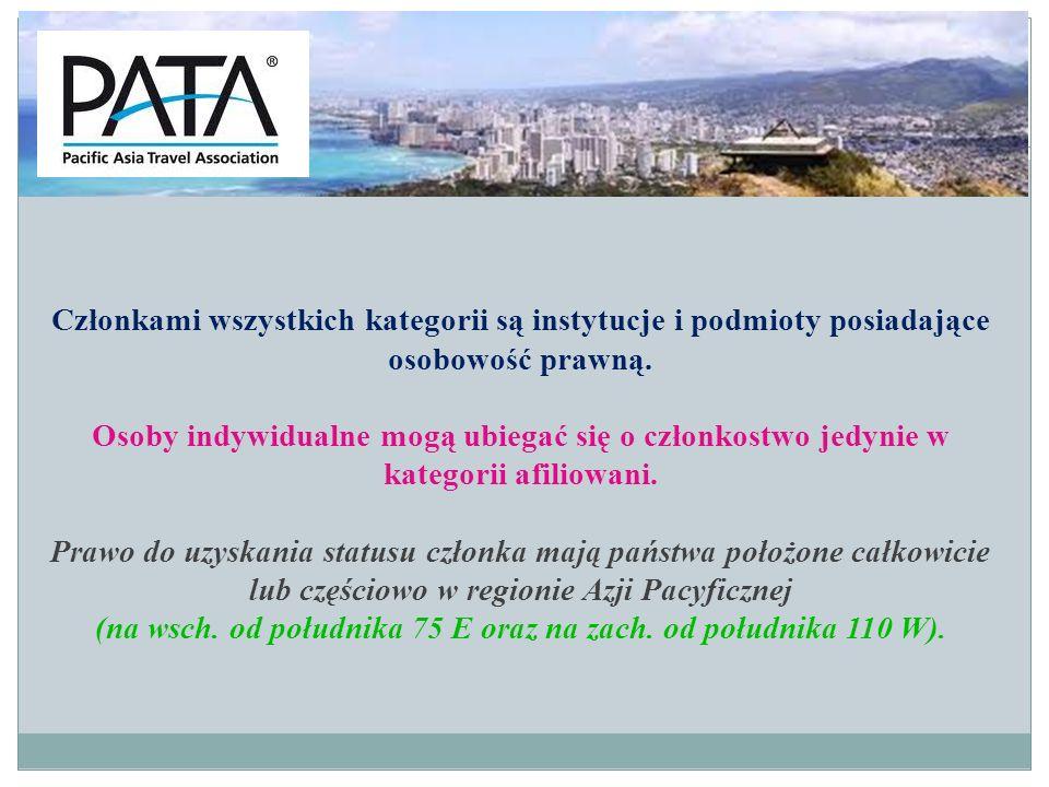 Struktura PATA: I Zarząd - organ kierujący, składa się z 76 członków: 25 osób - przedstawiciele państw, 25 osób - przedstawiciele przewoźników, 25 osób - przedstawiciele grupy członków stowarzyszonych, 1 osoba - przedstawiciel członków korporacyjnych.