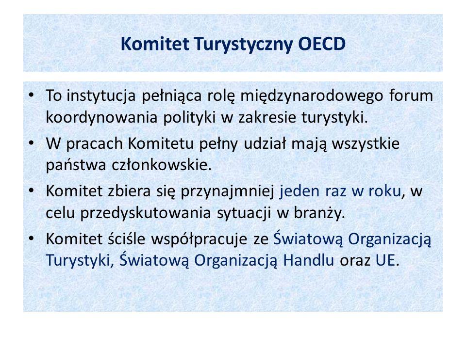 To instytucja pełniąca rolę międzynarodowego forum koordynowania polityki w zakresie turystyki. W pracach Komitetu pełny udział mają wszystkie państwa