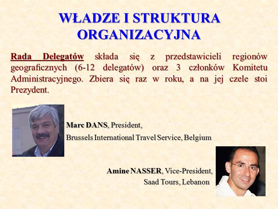 WŁADZE I STRUKTURA ORGANIZACYJNA Rada Delegatów składa się z przedstawicieli regionów geogracznych (6-12 delegatów) oraz 3 członków Komitetu Administr