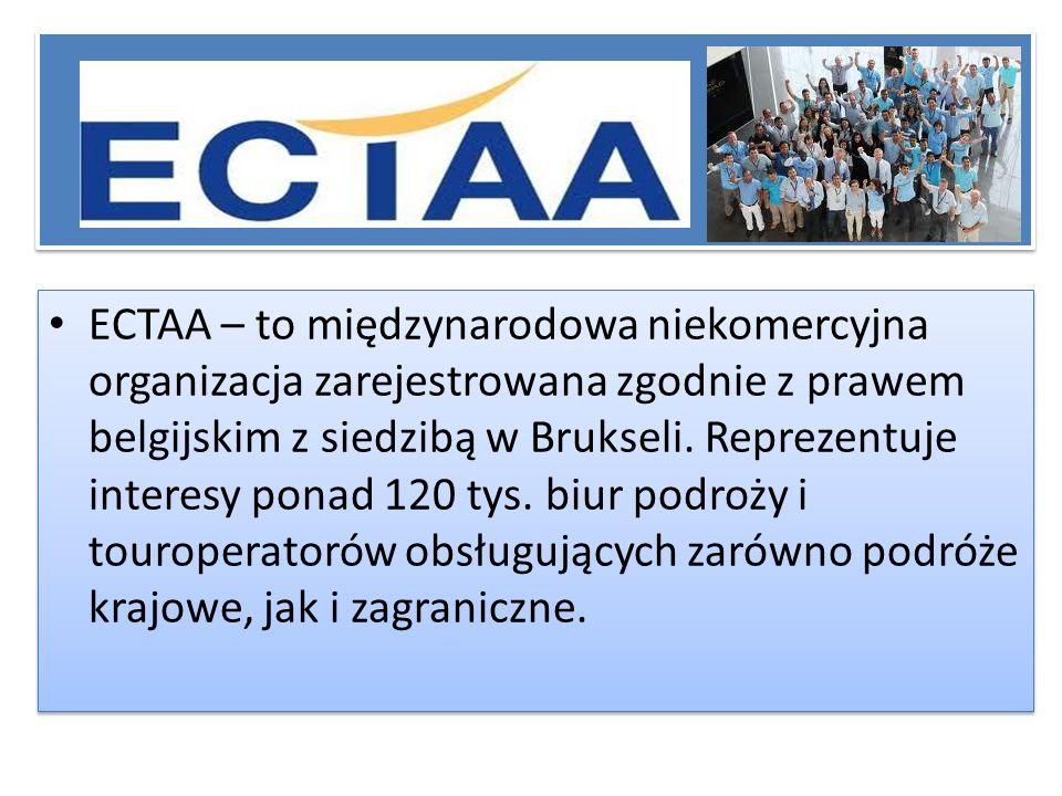 Historia ECTAA została założona w 1961 roku w Bad Kreuznach w Niemczech, przez krajowe stowarzyszenia biur podróży i touroperatorów z 6 założycielskich Państw Członkowskich wspólnego rynku.