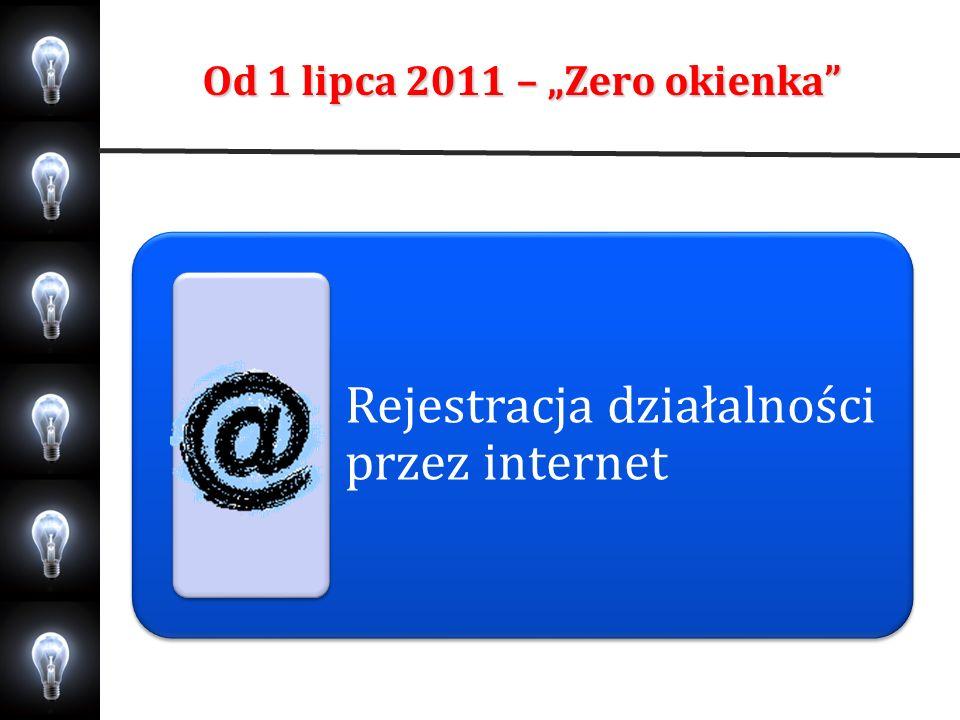 Od 1 lipca 2011 – Zero okienka Rejestracja działalności przez internet