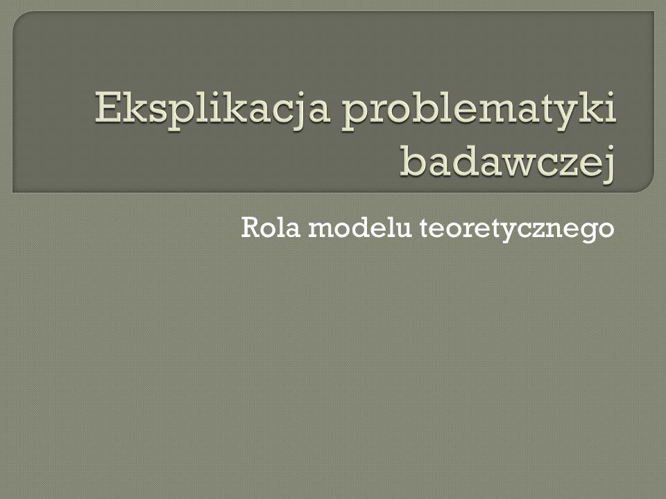 Rola modelu teoretycznego
