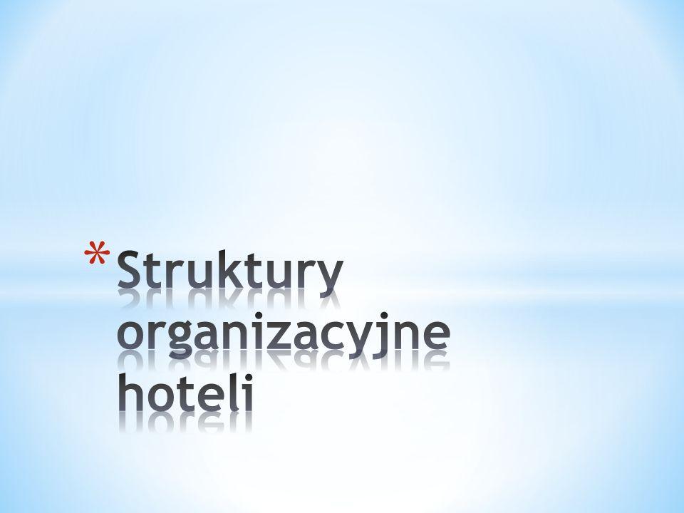 * Organizacja usług hotelarskich oznacza, że: * wyznaczono cel, dla którego świadczone są usługi hotelarskie, * ludzie są podstawą, tzn.
