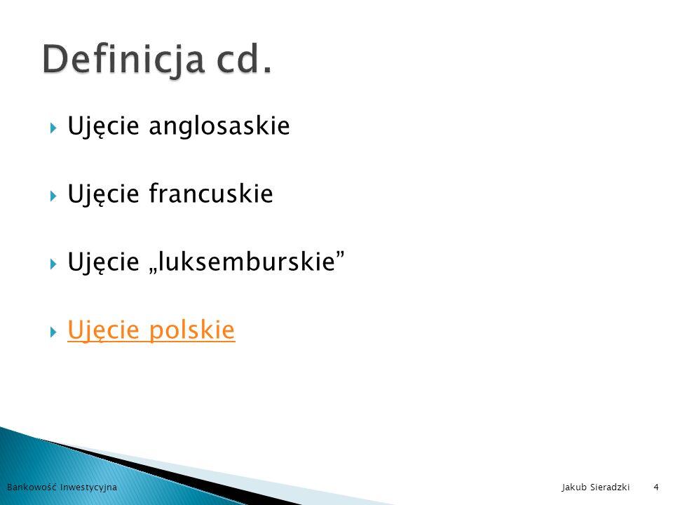 Przepływy pieniężne Zyski Zestaw ryzyk Bankowość Inwestycyjna Jakub Sieradzki5