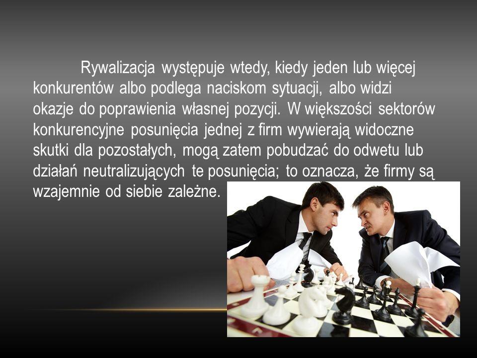 Rywalizacja występuje wtedy, kiedy jeden lub więcej konkurentów albo podlega naciskom sytuacji, albo widzi okazje do poprawienia własnej pozycji. W wi