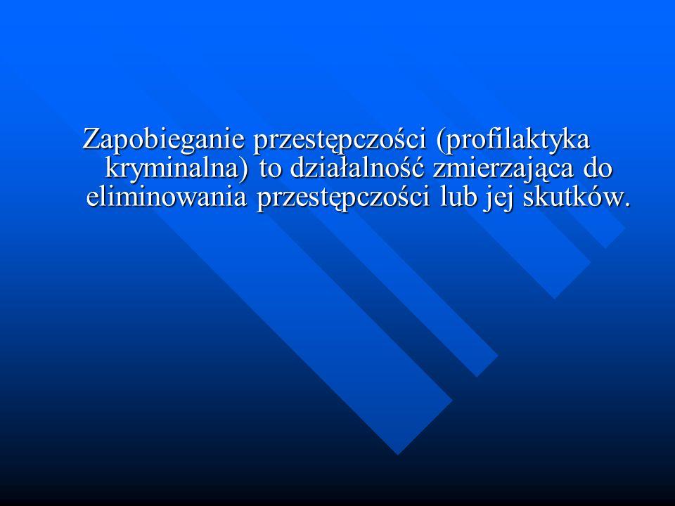 Zapobieganie przestępczości (profilaktyka kryminalna) to działalność zmierzająca do eliminowania przestępczości lub jej skutków.