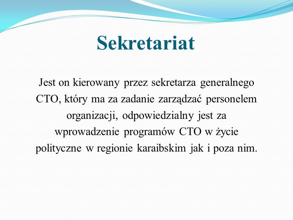 Sekretariat Jest on kierowany przez sekretarza generalnego CTO, który ma za zadanie zarządzać personelem organizacji, odpowiedzialny jest za wprowadze