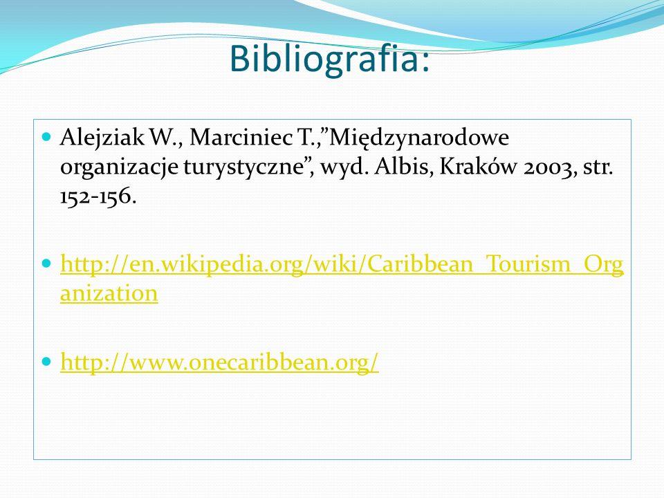 Bibliografia: Alejziak W., Marciniec T.,Międzynarodowe organizacje turystyczne, wyd. Albis, Kraków 2003, str. 152-156. http://en.wikipedia.org/wiki/Ca