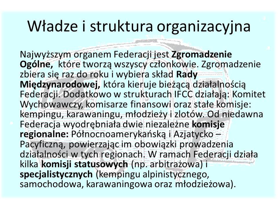 Władze i struktura organizacyjna Najwyższym organem Federacji jest Zgromadzenie Ogólne, które tworzą wszyscy członkowie. Zgromadzenie zbiera się raz d