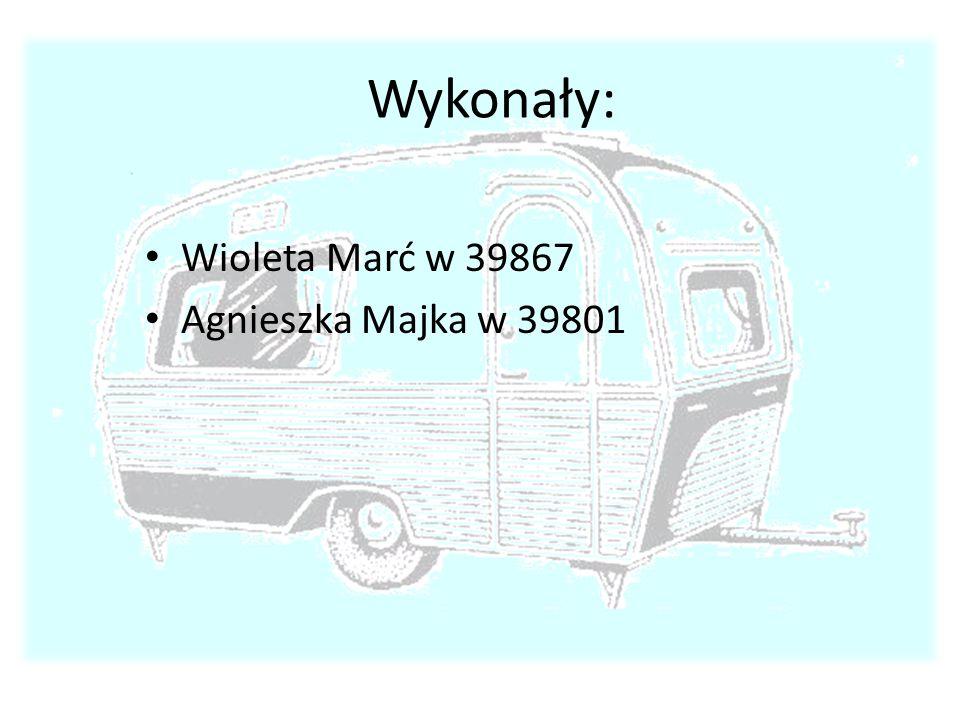 Wykonały: Wioleta Marć w 39867 Agnieszka Majka w 39801