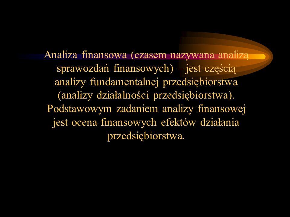 Analiza finansowa (czasem nazywana analizą sprawozdań finansowych) – jest częścią analizy fundamentalnej przedsiębiorstwa (analizy działalności przeds