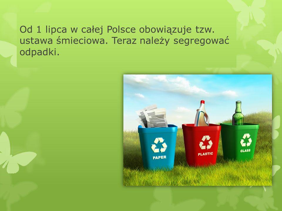 Od 1 lipca w całej Polsce obowiązuje tzw. ustawa śmieciowa. Teraz należy segregować odpadki.