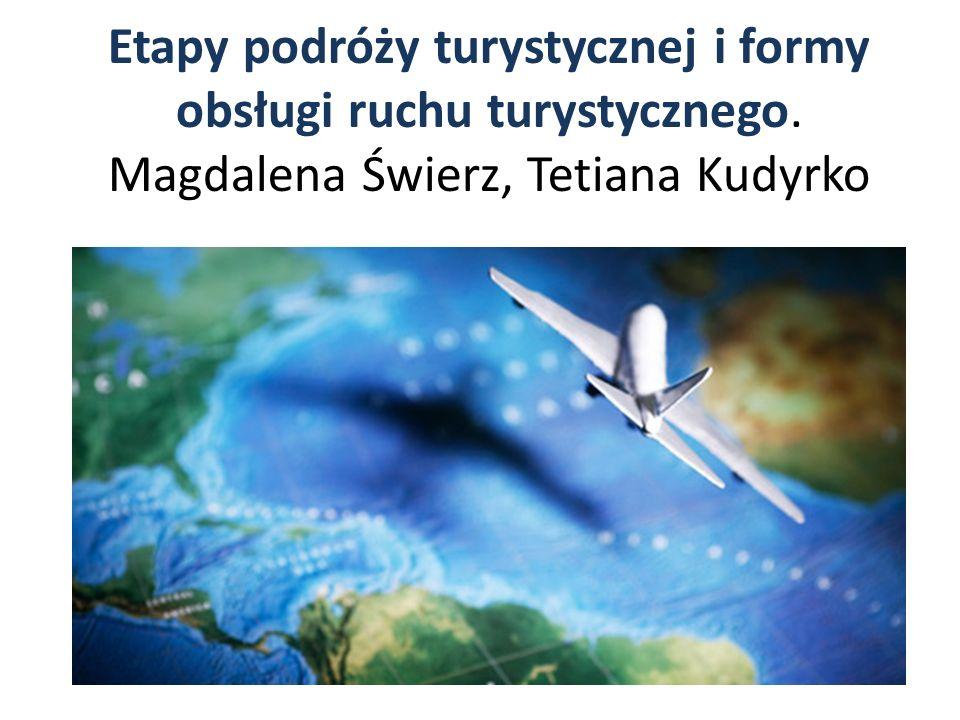 Etapy podróży turystycznej i formy obsługi ruchu turystycznego. Magdalena Świerz, Tetiana Kudyrko
