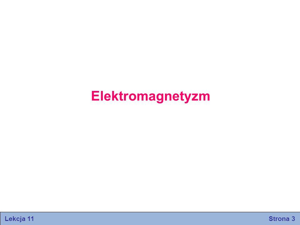Lekcja 11 Strona 14 (strumień elektryczny przez powierzchnię Gaussa) Strumień elektryczny Φ przenikający przez powierzchnię Gaussa, jest proporcionalny do całkowitej liczby linii pola elektrycznego, przechodzących przez tę powierzchnię