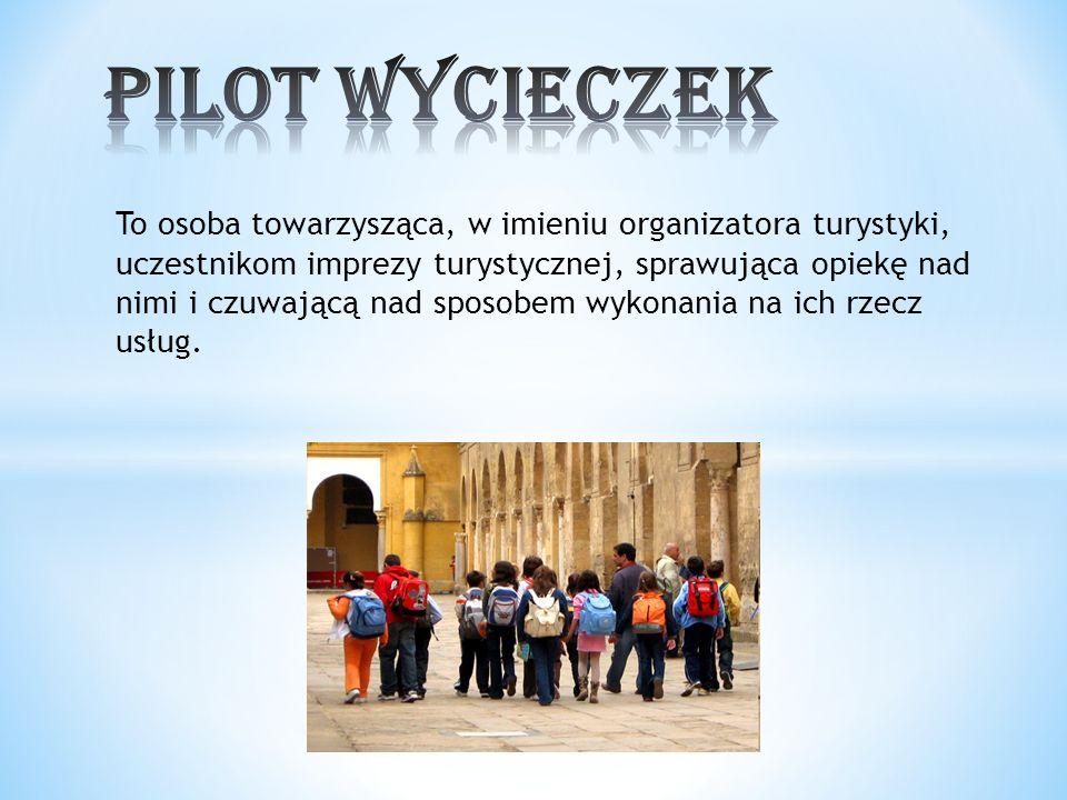 To osoba towarzysząca, w imieniu organizatora turystyki, uczestnikom imprezy turystycznej, sprawująca opiekę nad nimi i czuwającą nad sposobem wykonan