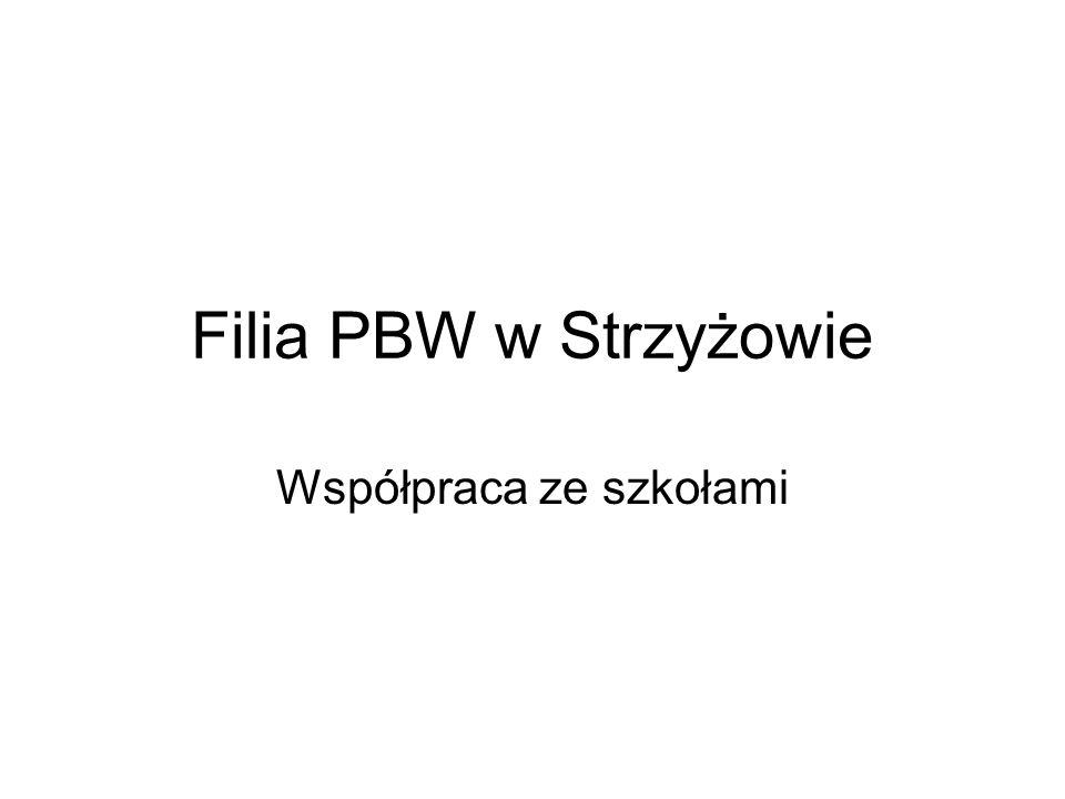Filia PBW w Strzyżowie Współpraca ze szkołami