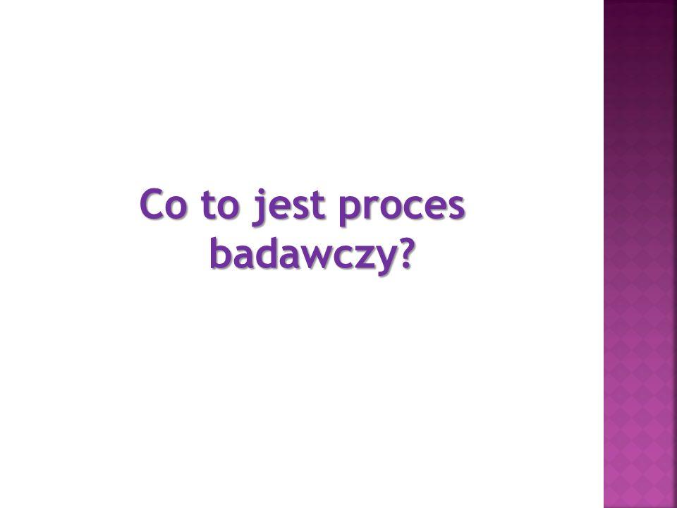 Co to jest proces badawczy?